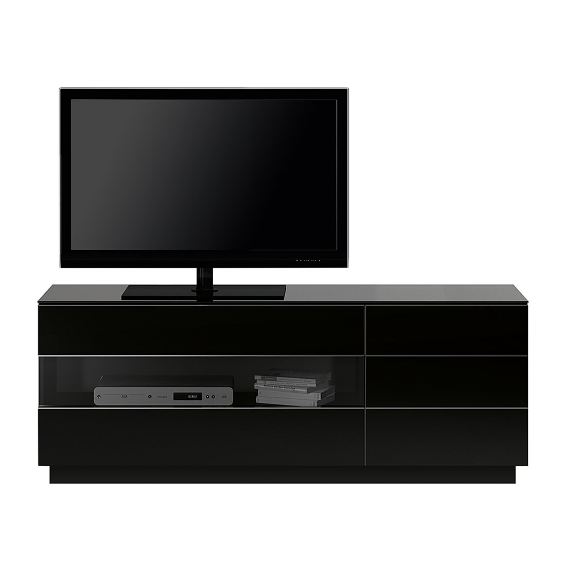 TV-Lowboard TL6153 - Hochglanz Schwarz