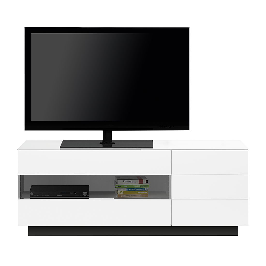 TV-Lowboard TL6153 - Hochglanz Weiß