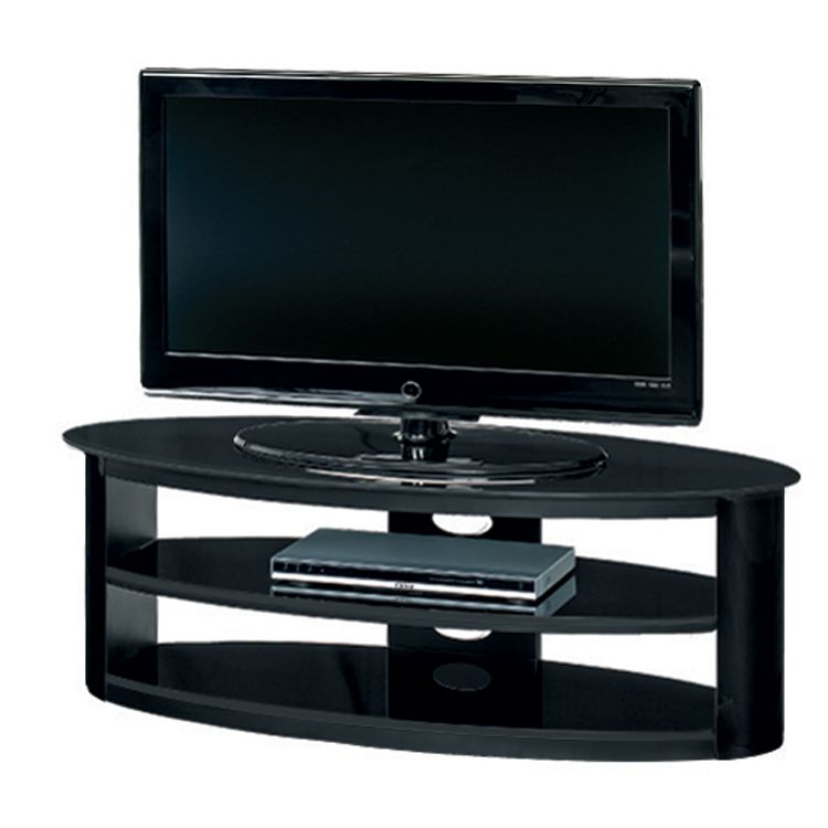tv lowboard cuuba mojo 360 elliptische form hochglanz schwarz jahnke jetzt bestellen. Black Bedroom Furniture Sets. Home Design Ideas