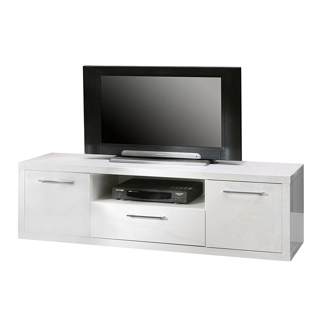 tv lowboard fresno ii hochglanz wei 152 5 cm mooved. Black Bedroom Furniture Sets. Home Design Ideas