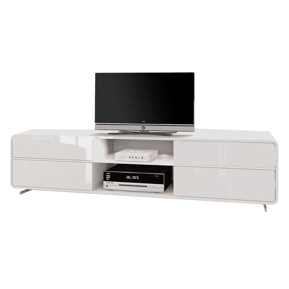 tv lowboard cuuba curve m18 2 led hochglanz wei. Black Bedroom Furniture Sets. Home Design Ideas