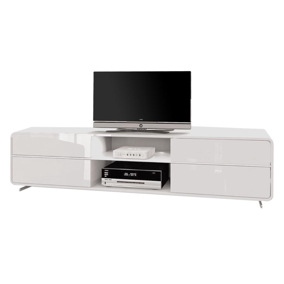 jahnke tv lowboard TV-Lowboard Cuuba Curve M18.2 LED u2013 Hochglanz Weiß
