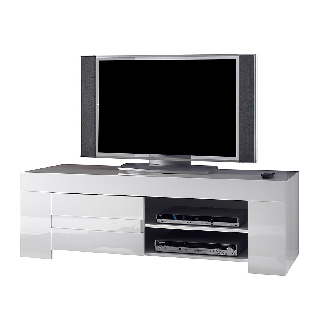 TV-Lowboard Gladiolo – Hochglanz Weiß / Weiß, LC Mobili jetzt kaufen