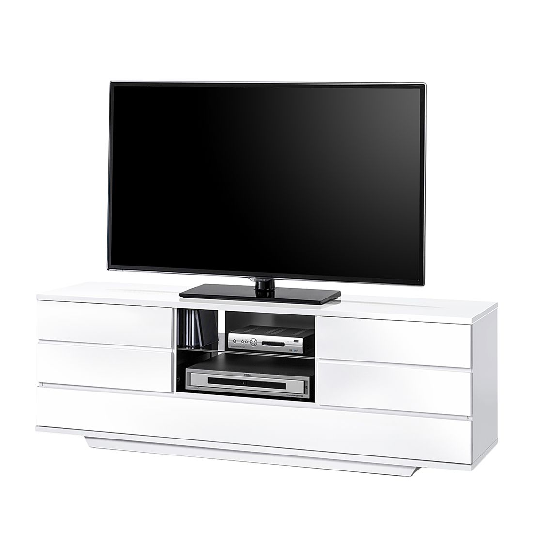 tv lowboard grayslake hochglanz wei hochglanz schwarz roomscape g nstig kaufen. Black Bedroom Furniture Sets. Home Design Ideas