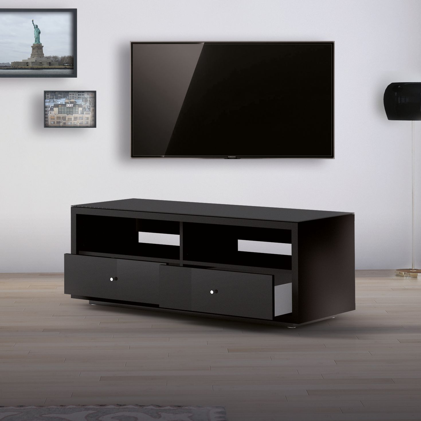 tv lowboard schwarz hochglanz tv lowboard schwarz. Black Bedroom Furniture Sets. Home Design Ideas