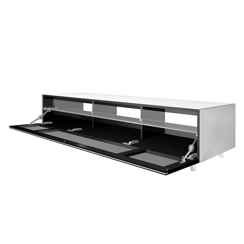 180x36cm weiss hochglanz tv rack 2 schubkaesten longboard. Black Bedroom Furniture Sets. Home Design Ideas