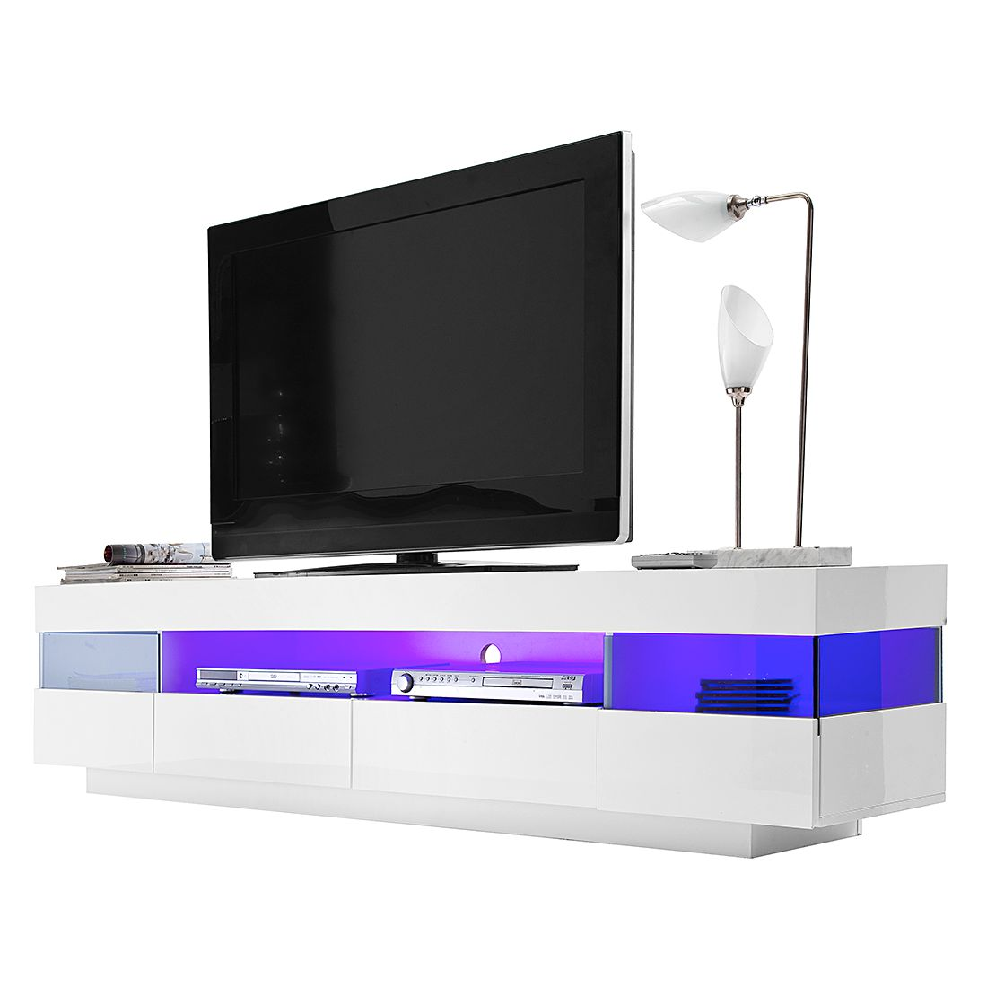 eek a tv lowboard penny mit rgb led beleuchtung loftscape g nstig online kaufen. Black Bedroom Furniture Sets. Home Design Ideas