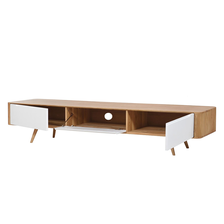 tv lowboard loca i wildeiche teilmassiv wildeiche wei 225 cm studio copenhagen m ffh. Black Bedroom Furniture Sets. Home Design Ideas