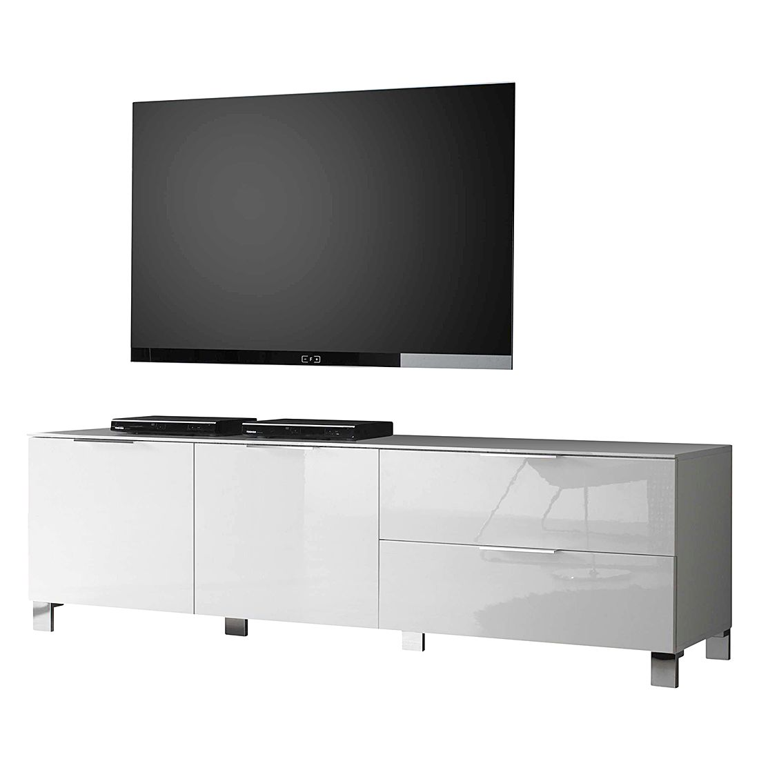 tv lowboard margherita ii hochglanz wei 180 cm lc. Black Bedroom Furniture Sets. Home Design Ideas