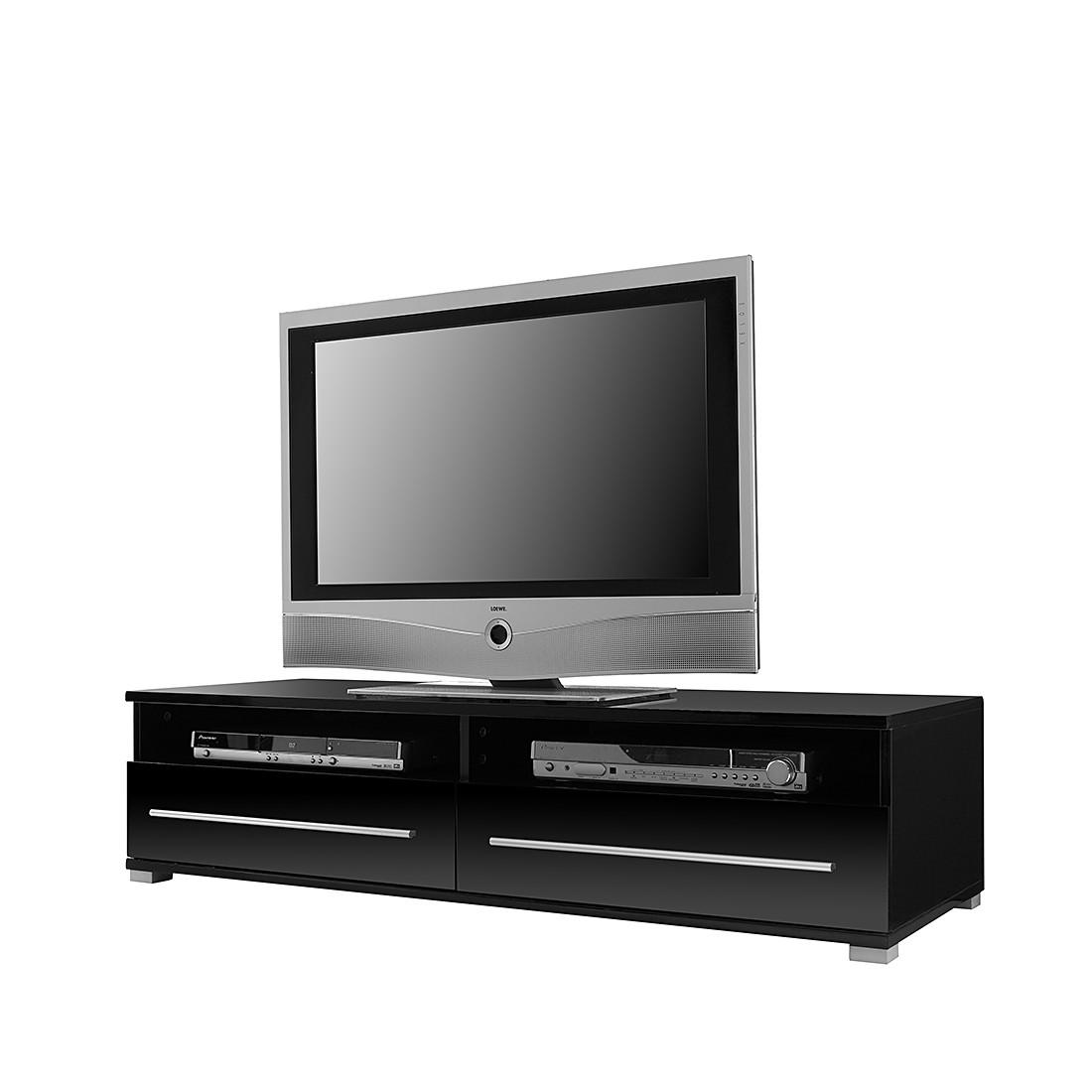 TV Lowboard Mert - Schwarz (TV Lowboard Mert - 2 Schubkästen - Schwarz)