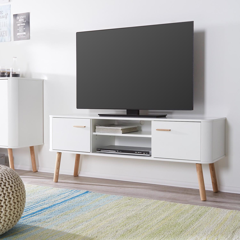 Lowboard design möbel weiss  Lowboard Pilara Eiche teilmassiv TV BOARD SCHRANK TISCH MÖBEL ...