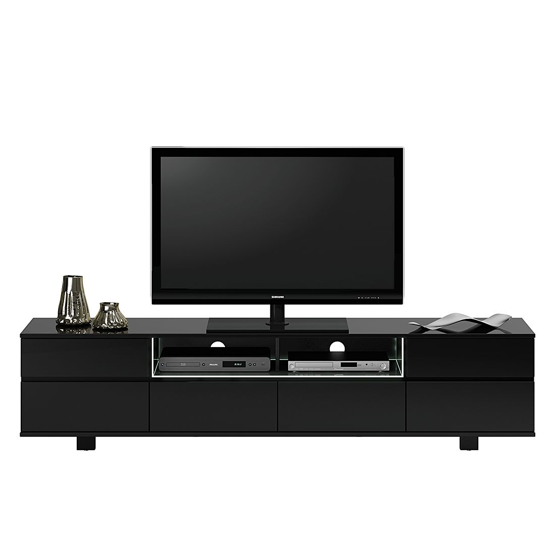 tv lowboard schwarz hochglanz led neuesten. Black Bedroom Furniture Sets. Home Design Ideas