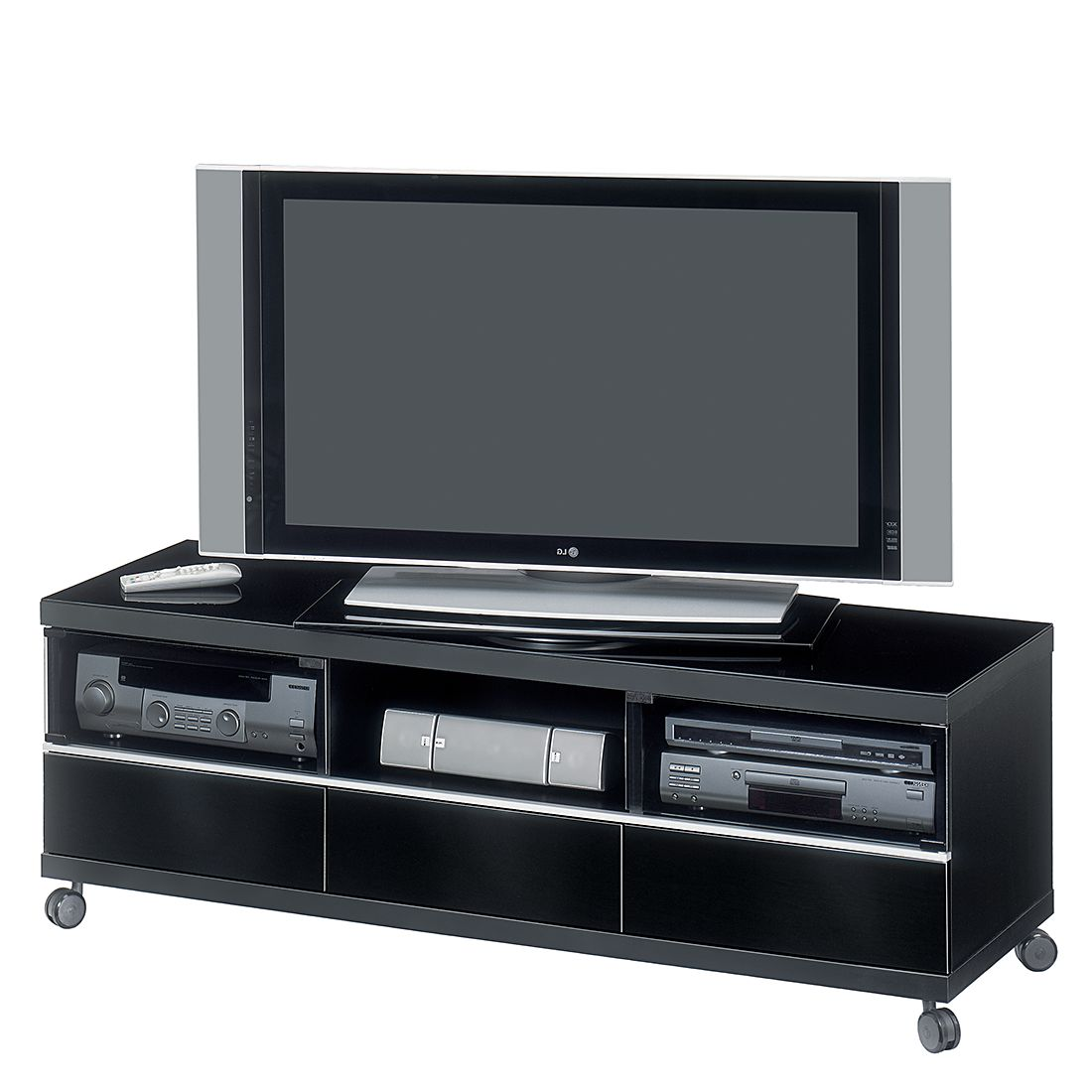 tv lowboard sl 3160 schwarz hochglanz schwarz dekor. Black Bedroom Furniture Sets. Home Design Ideas