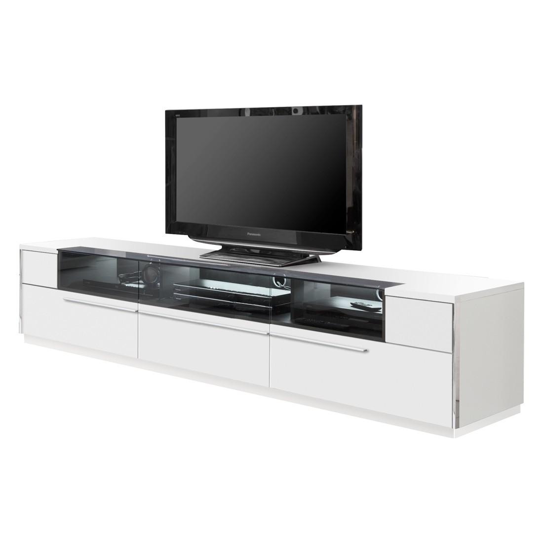 TV-Lowboard ROOMconcept I – Polarweiß – Mit Beleuchtung – 226,5 cm – Mit Sockel, Holtkamp günstig kaufen