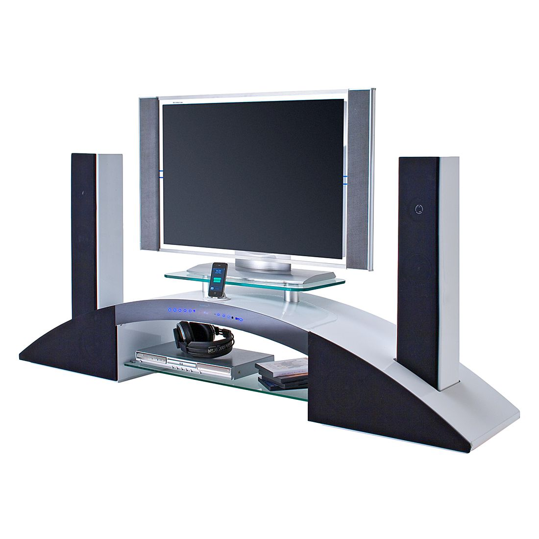 tv lowboard sound dock iv 2 hocht ner 2 mittelt ner 2. Black Bedroom Furniture Sets. Home Design Ideas