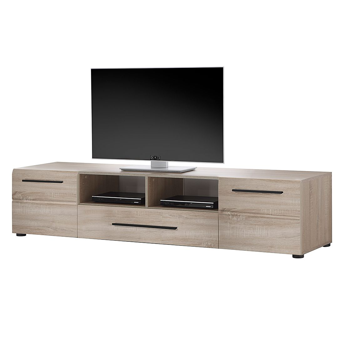 tv lowboard storm eiche s gerau hell dekor. Black Bedroom Furniture Sets. Home Design Ideas