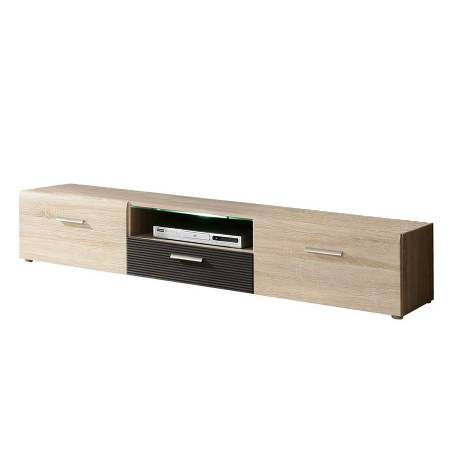 eiche sonoma mdf g nstig kaufen. Black Bedroom Furniture Sets. Home Design Ideas