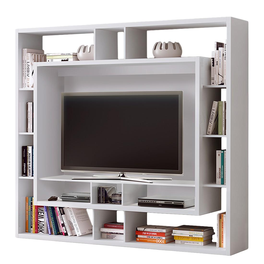 Tv medienwand easy cremewei mit leuchtstoffr hren loftscape bestellen - Medienwand tv ...