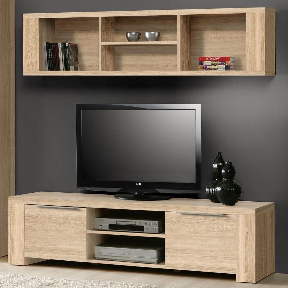 TV Möbel Rucola (2-teilig) - Sonoma Eiche Dekor - Lowboard & Hängeregal