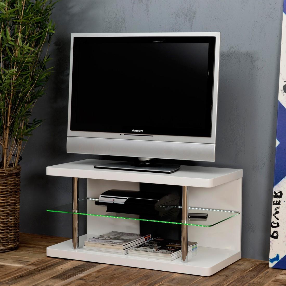 EEK A+, TV-Rack Amarille (inkl. Beleuchtung) – Hochglanz Weiß, roomscape bestellen