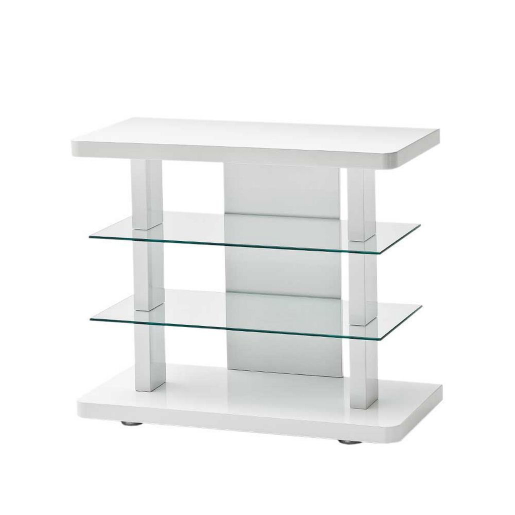 TV Rack Asutrian – Weiß – MDF/Klarglas, TopDesign bestellen