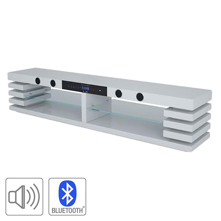 TV-Rack Sound (inkl. Soundsystem) – Hochglanz Weiß, roomscape günstig kaufen