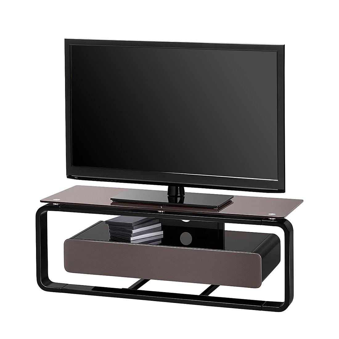 Meuble verre guide d 39 achat for Meuble tv gris 110 cm