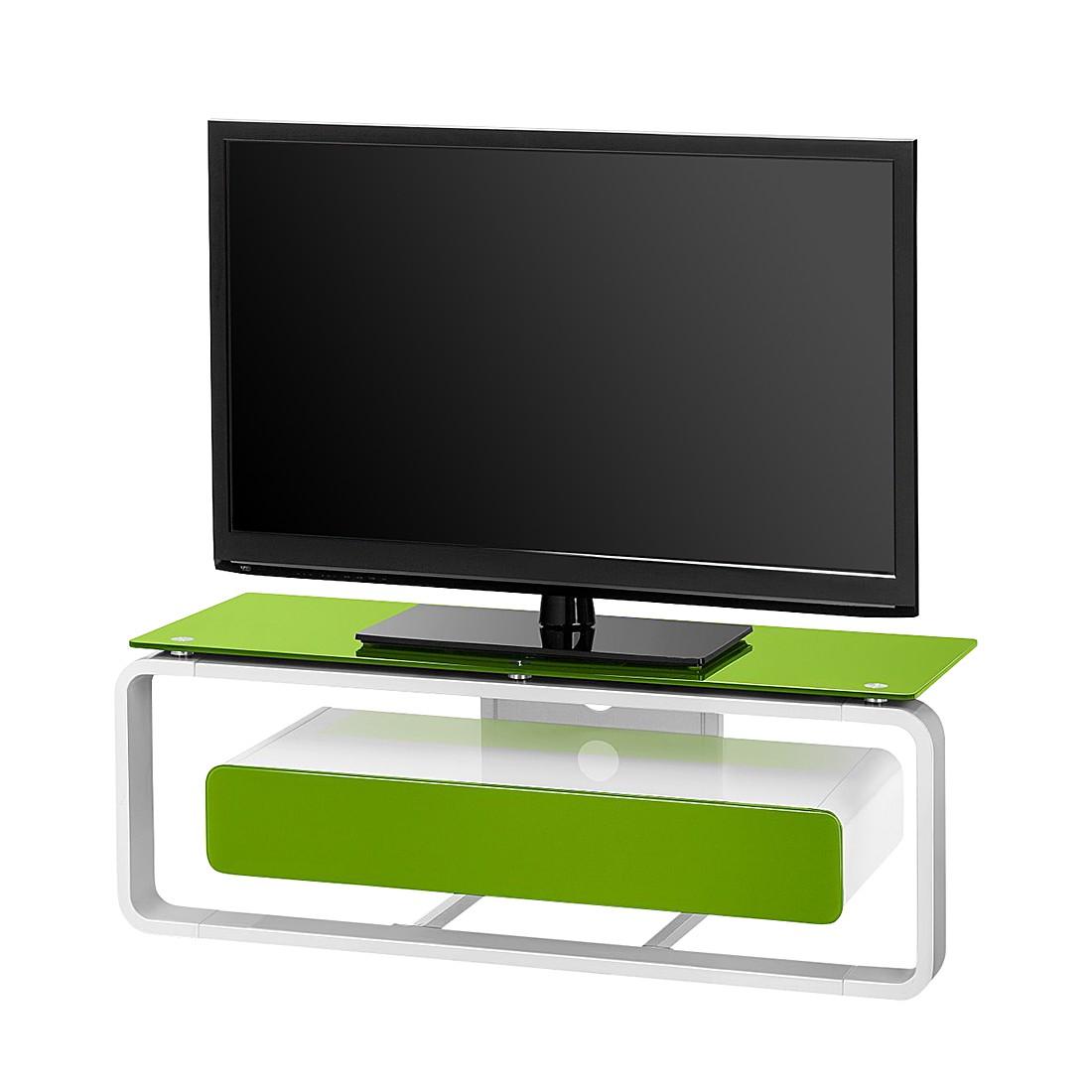 tv rack shanon wei glas gr n 110 cm loftscape online bestellen. Black Bedroom Furniture Sets. Home Design Ideas