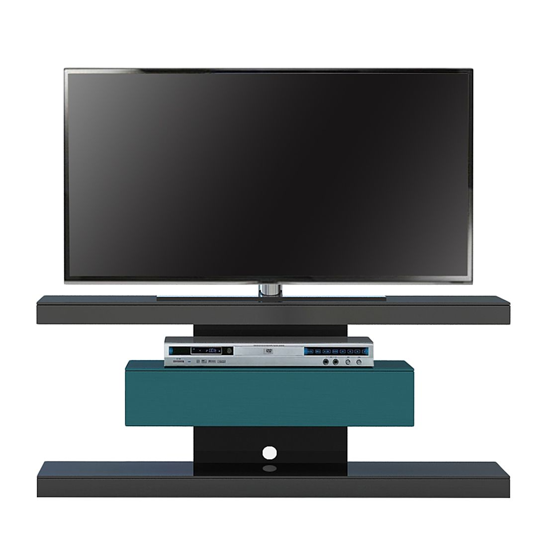 TV-Rack SL 610 – Schwarz / Petrol, Jahnke online kaufen