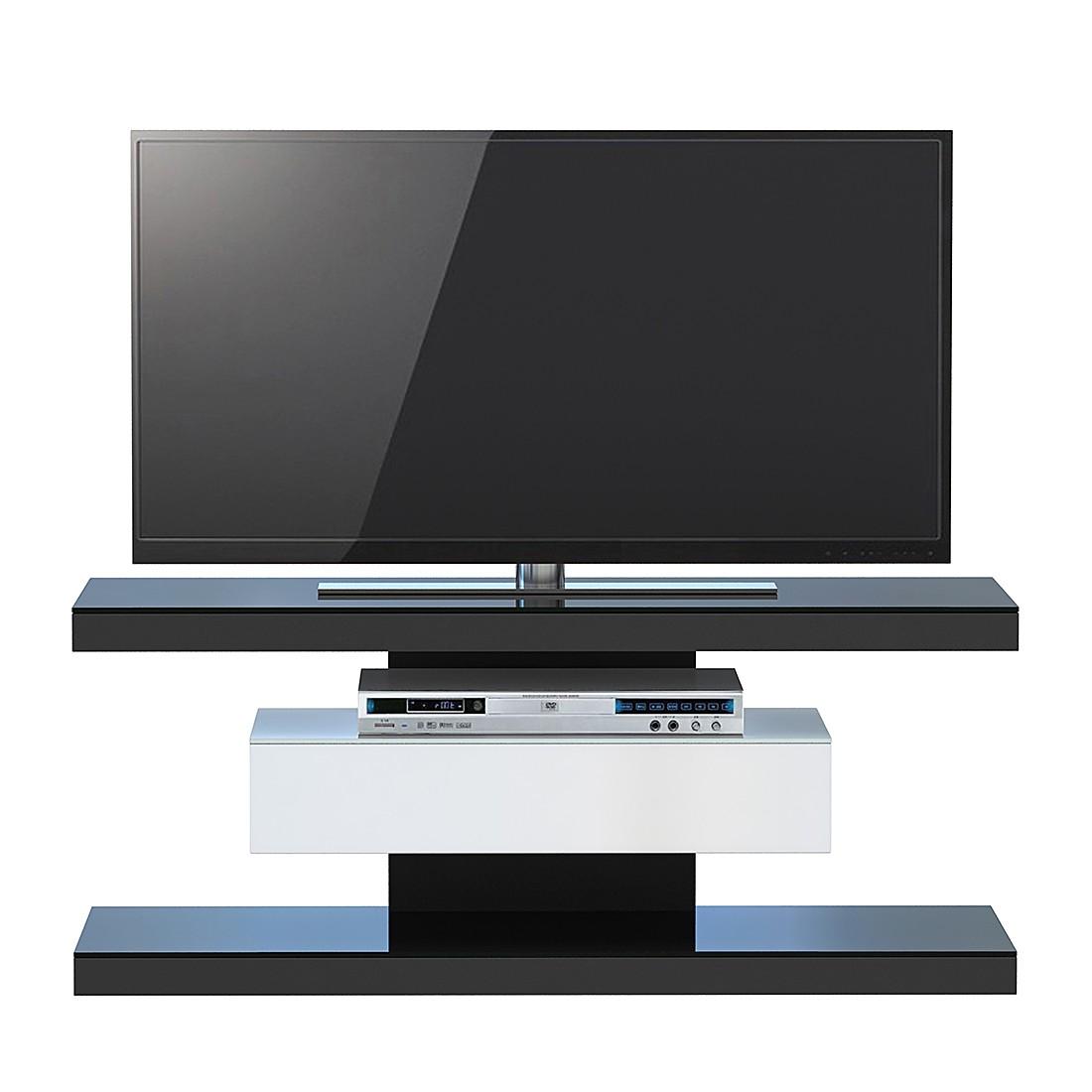 Tv-rek SL 610 - Zwart/wit, Jahnke