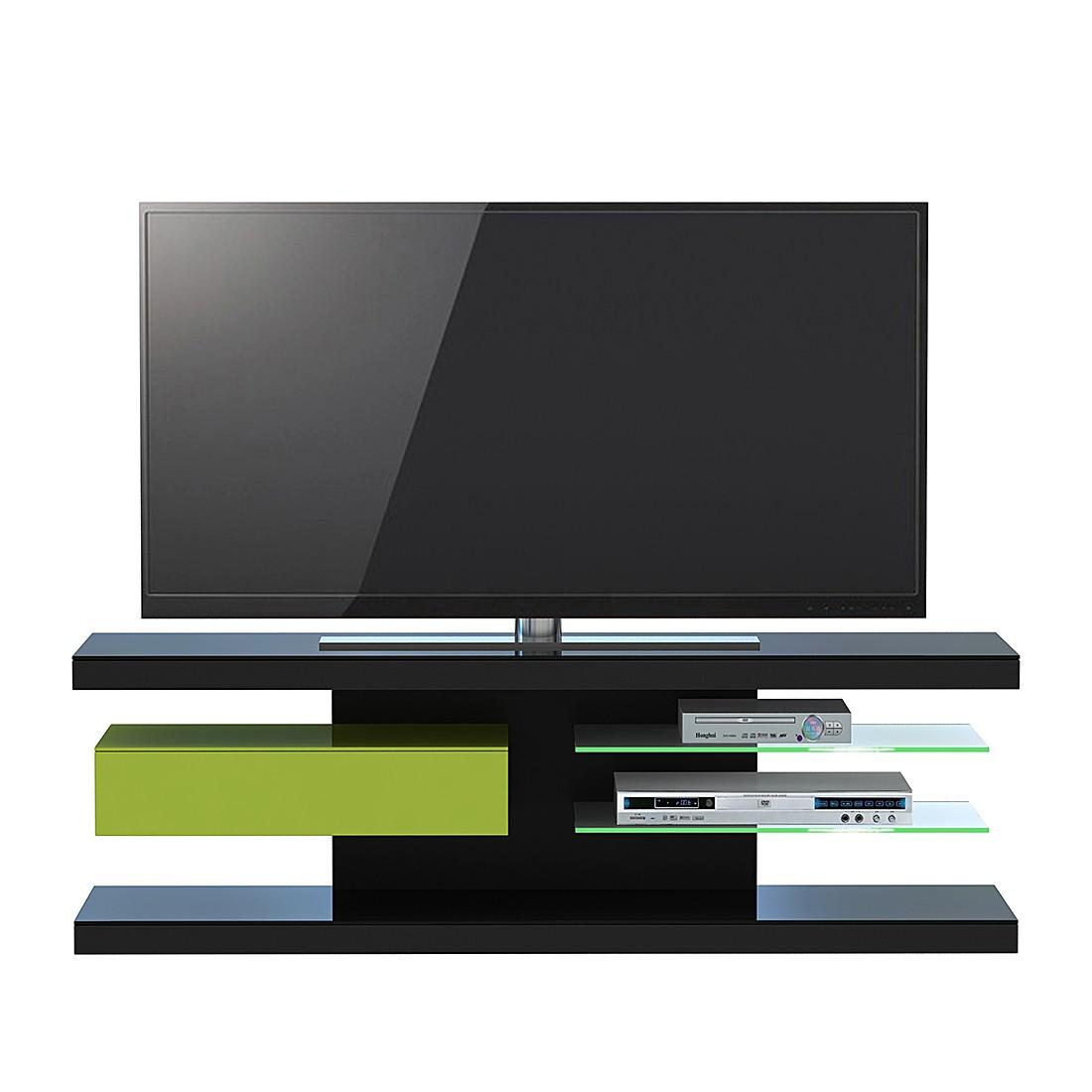 TV-Rack SL 660 – Schwarz / Grün, Jahnke günstig kaufen