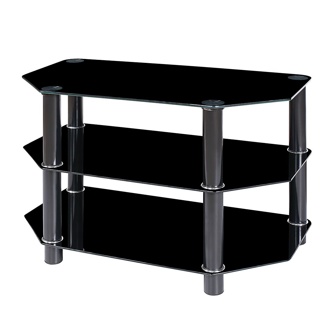 preisvergleich eu tv rack schwarzglas. Black Bedroom Furniture Sets. Home Design Ideas
