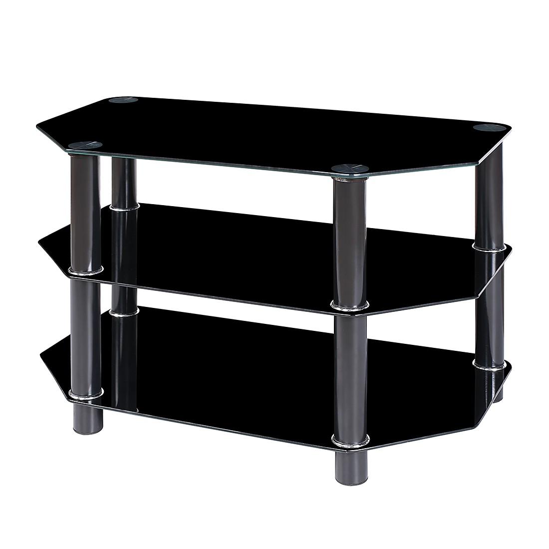 preisvergleich eu tv rack schwarzglas. Black Bedroom Furniture Sets. Home Design Ideas