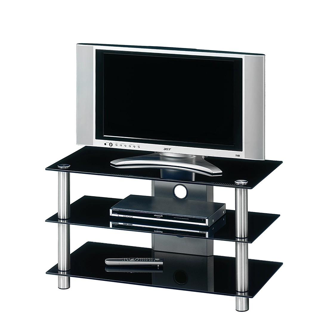 tv rack hit 380 aluminium schwarzglas. Black Bedroom Furniture Sets. Home Design Ideas