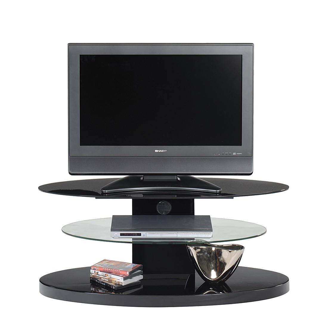 tv rack cuuba mojo 300 hochglanz schwarz elliptische form. Black Bedroom Furniture Sets. Home Design Ideas