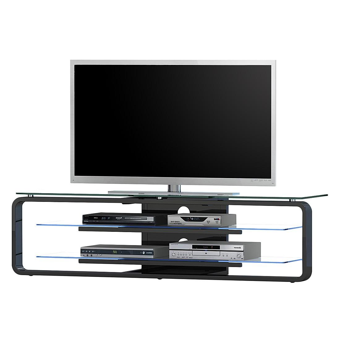 TV-Rack Wheaston (inkl. Beleuchtung) – Hochglanz Schwarz, roomscape günstig online kaufen
