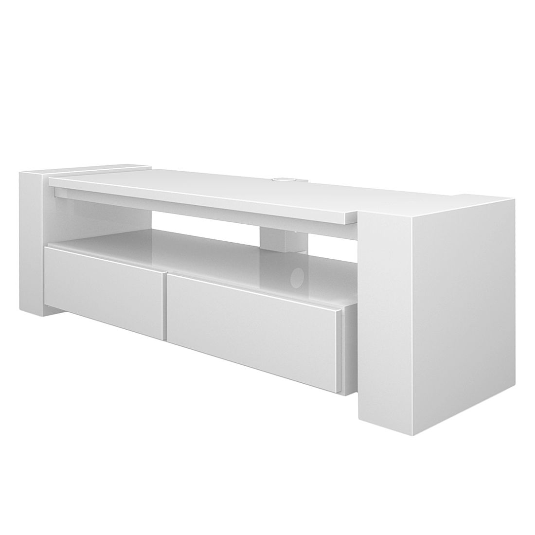 tv rack x line ii hochglanz wei schnepel. Black Bedroom Furniture Sets. Home Design Ideas