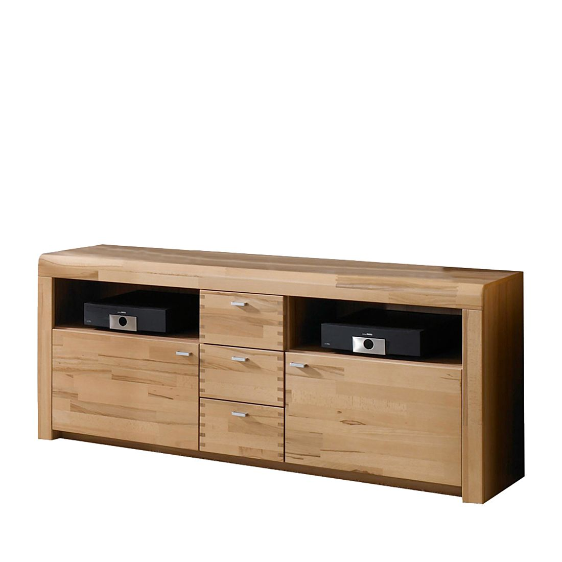 tv sideboard wutan kernbuche teilmassiv natur lackiert. Black Bedroom Furniture Sets. Home Design Ideas