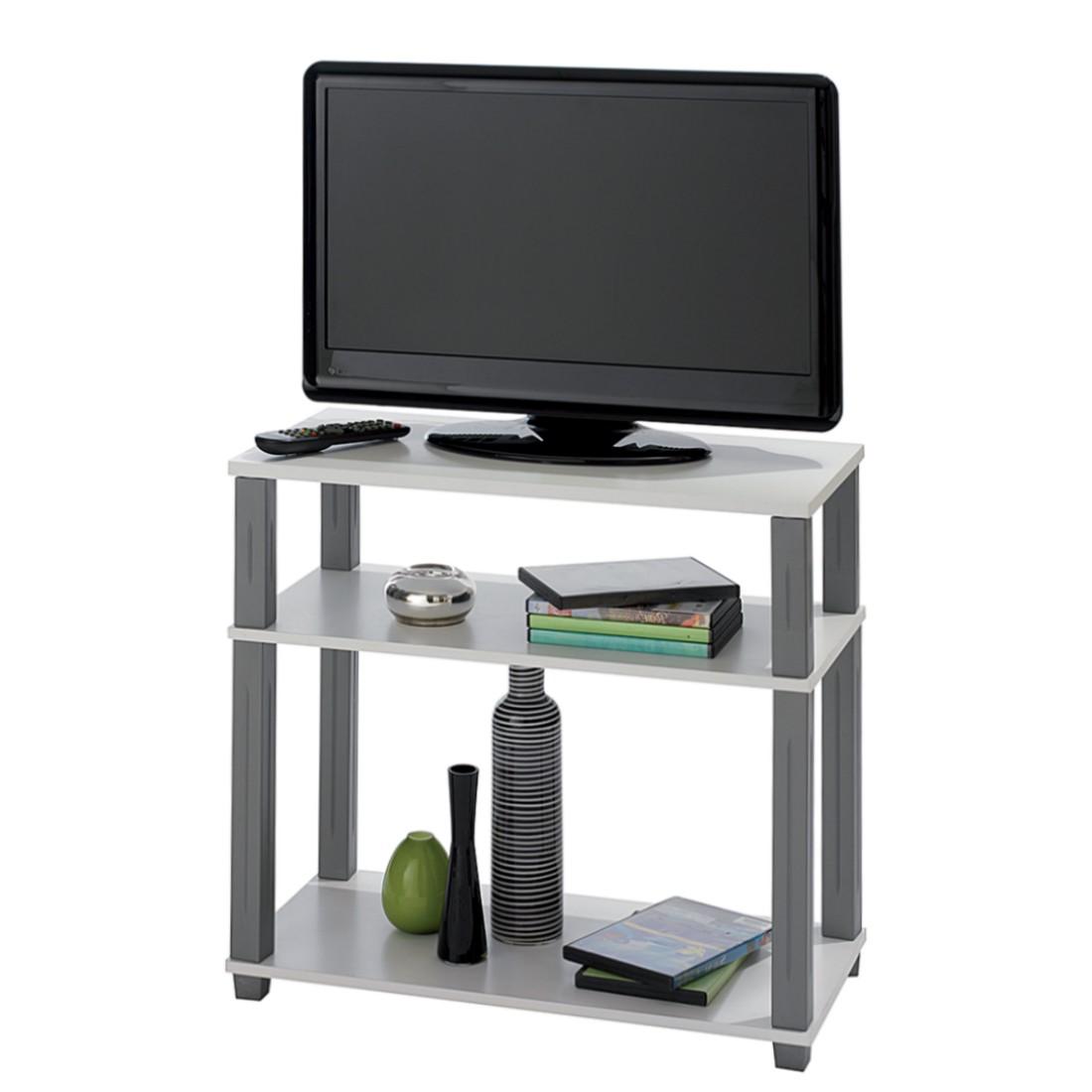 TV-Tisch Navarra - offen - Weiß/Silber, California