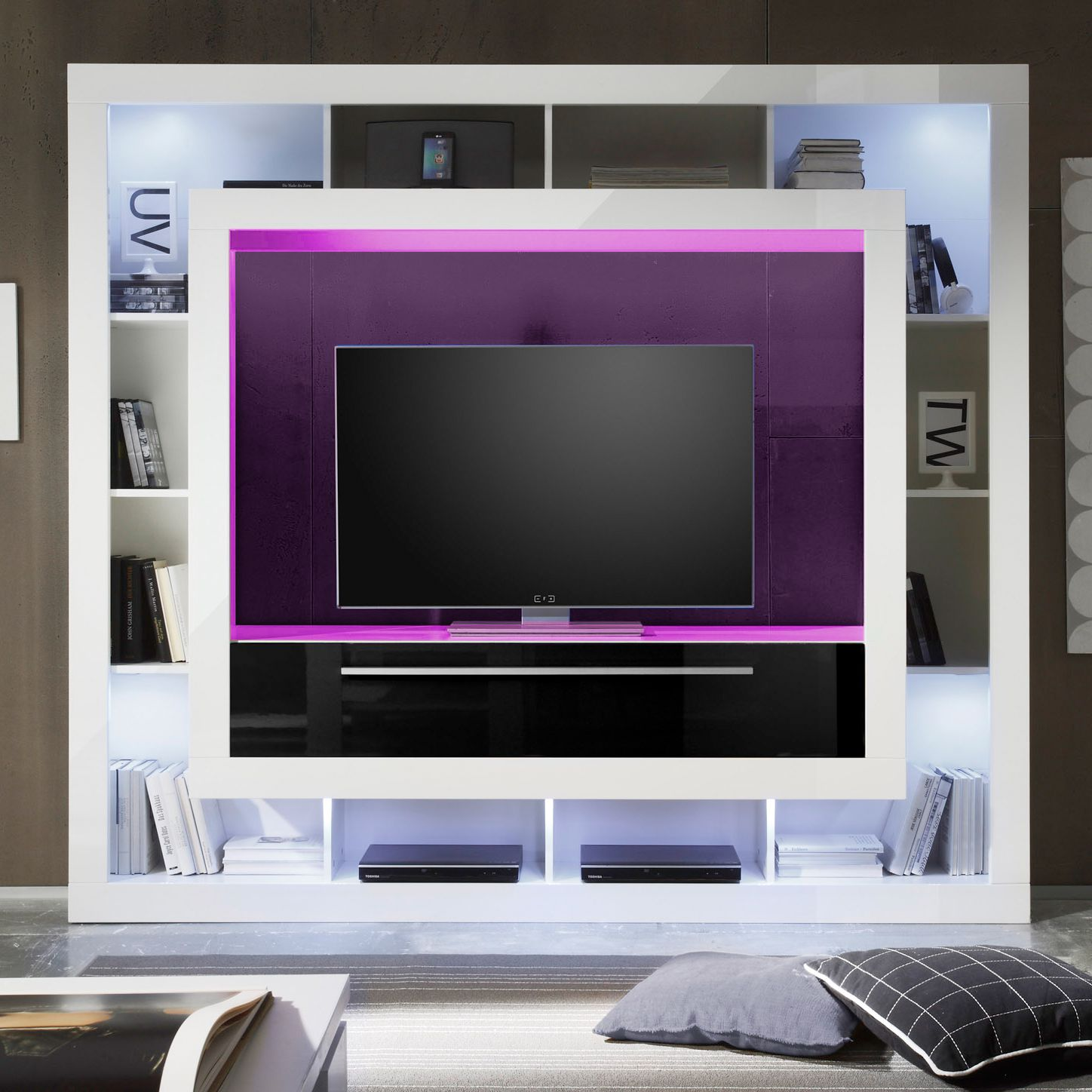 hochglanz weiss tv wand preisvergleiche erfahrungsberichte und kauf bei nextag. Black Bedroom Furniture Sets. Home Design Ideas