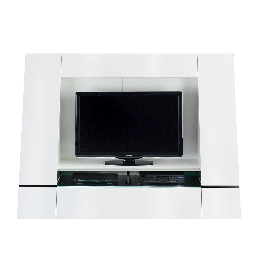 TV- Wand Cuuba Luxor 45 - Hochglanz Weiß