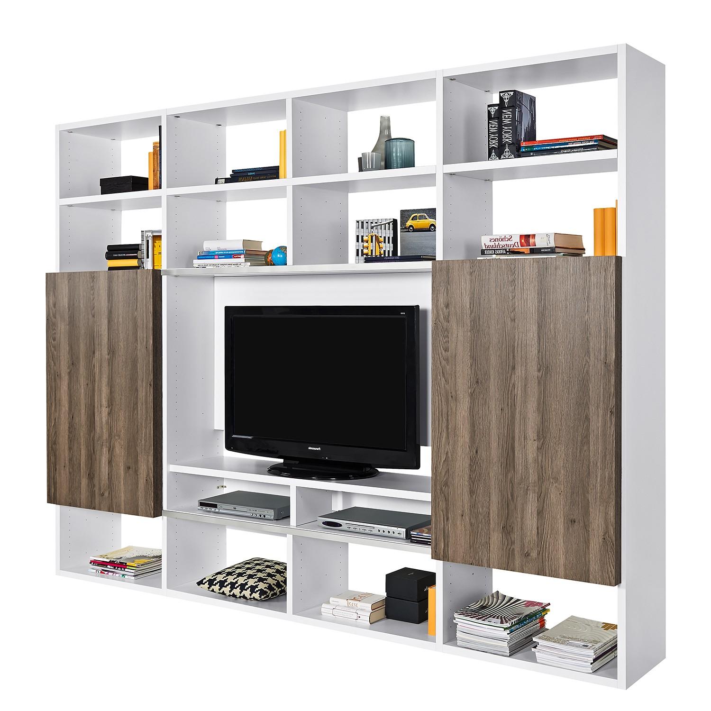 TV-Wand One - Weiß / Eiche Dunkel Dekor, Arte M
