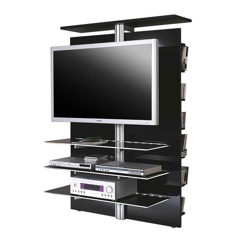 tvwand slclcd 1900 schwarz hochglanz jahnke mja. Black Bedroom Furniture Sets. Home Design Ideas