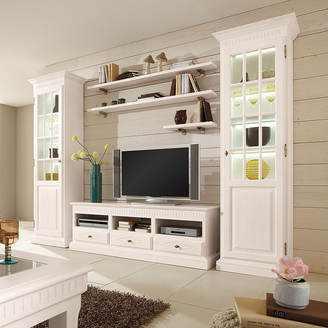 wohnwand pinie sonstige preisvergleiche erfahrungsberichte und kauf bei nextag. Black Bedroom Furniture Sets. Home Design Ideas