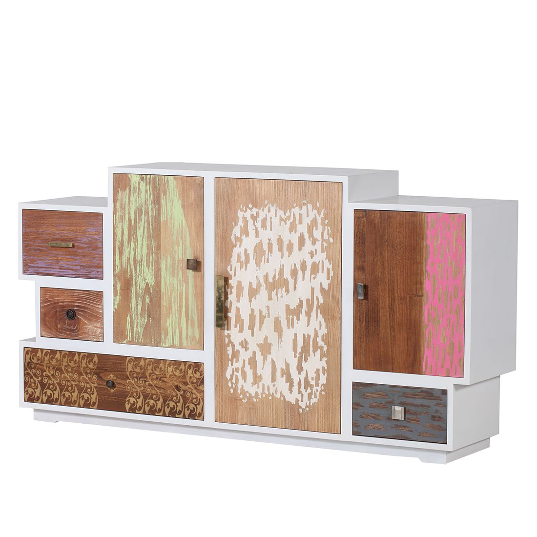Kommode wei mit bunten schubladen gallery of vintage - Aldi sideboard ...