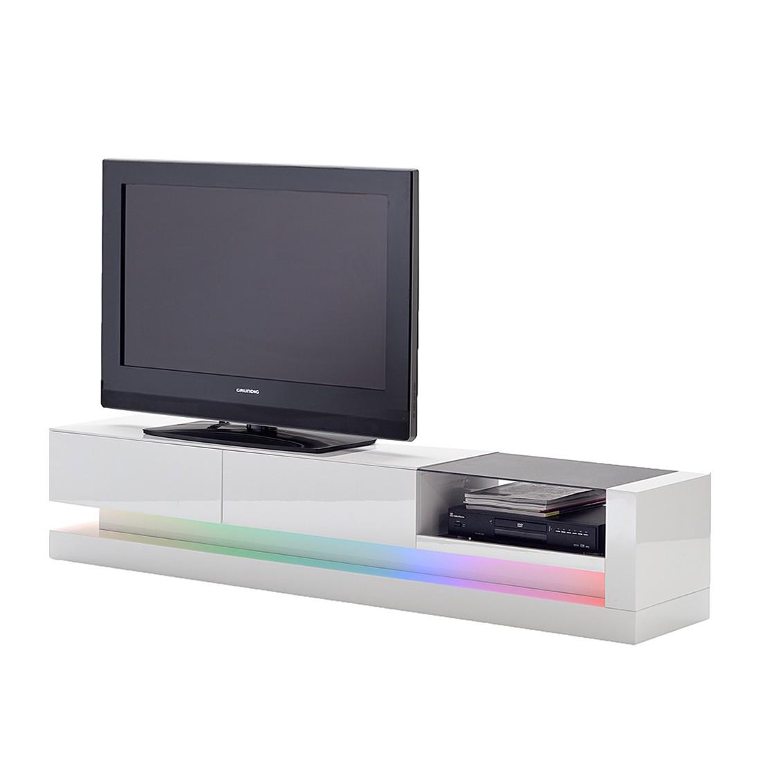 EEK A+, TV-Lowboard Twister – Mit RGB-LED Beleuchtung, loftscape günstig