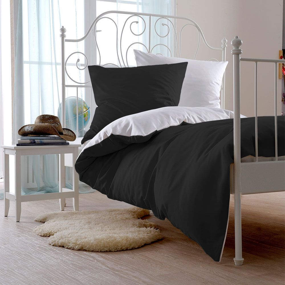 uni mako satin bettw sche 100 baumwolle t rkis bettbezug einzeln 135x200 cm bettwaren shop. Black Bedroom Furniture Sets. Home Design Ideas