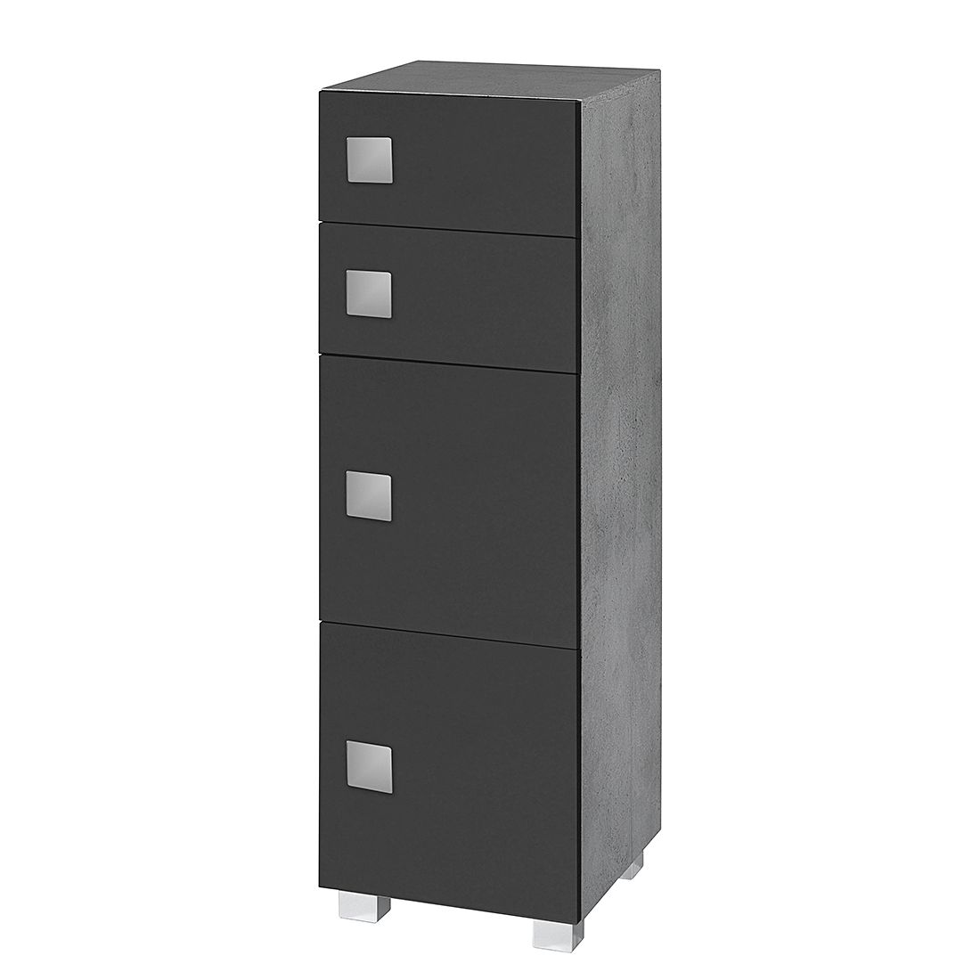 unterschrank genf schwarz steingrau badschrank waschbecken badschrank badm bel ebay. Black Bedroom Furniture Sets. Home Design Ideas