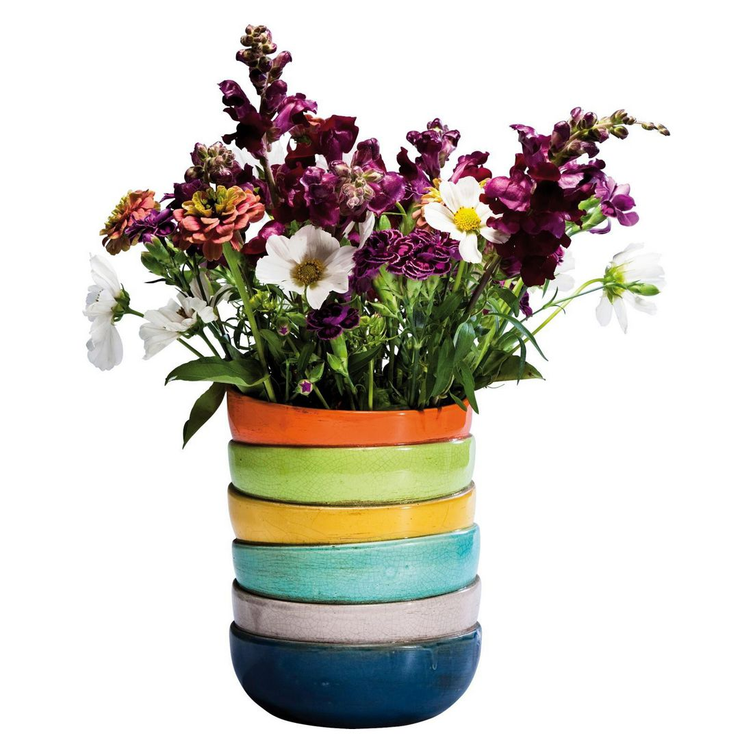 vase bowls colore 18cm steingut glasiert mehrfarbig kare design kaufen. Black Bedroom Furniture Sets. Home Design Ideas