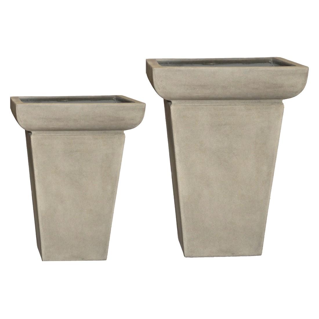 Pflanzkübel Cornish Stone – Kunststoff – Design Eckig Big City – Vase Cornish Stone – Kunststoff – Design Eckig – 86 cm65 cm, Viducci's Garden jetzt bestellen